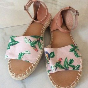 NWT old navy tropical espadrilles parrot